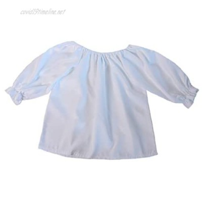 Girls 3/4 Long Sleeve Peasant Blouse (Choose Color and Size)