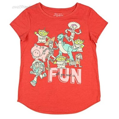 Disney Toy Story Girl's All You Need is Fun Glitter Accent T-Shirt