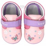 Kimi + Kai Girls First Walker Toddler Baby Butterfly Soft Sole Lambskin Leather Shoes