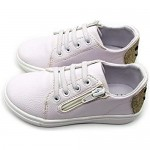 Nicole Miller New York Toddler Girls Faux Leather Designer Lace Up Zipper Sneakers
