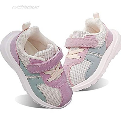 ROTSC Four Seasons Kids Shoe Toddler/Infant Shoes Boys/Girls Lightweight Breathable Sneakers Athletic Tennis Child Shoes for Running Walking Pink