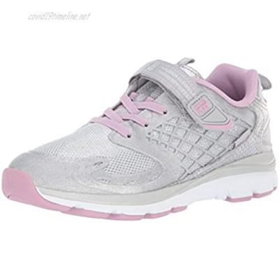Stride Rite Baby-Girl's Made2Play Cannan Sneaker Silver/Mauve 9.5 XW US Toddler