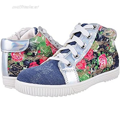 Tuboom Girls High Top Sneakers for Kids Fashion Cute Printing Causal Shoes Non Slip Medial Zipper