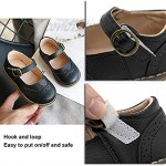 Athlefit Girl's Classic Mary Jane Shoes School Dress Shoes Uniform Flats for Toddler/Little Kid