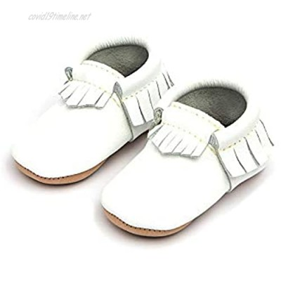 Freshly Picked - Rubber Mini Sole Leather Moccasins - Toddler Girl Boy Shoes - Infant/Toddler Sizes 3-7 - Multiple Colors
