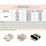 Sawimlgy Toddler Girls Summer sandals Open Toe Princess Dress Flat Rubber Sole Wedding Casual School Outdoor Shoes (Toddler/Little Kid)