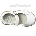 Stride Rite Baby-Girl's Ava Casual Mary Jane Flat White 4.5 W US Toddler