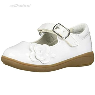 Stride Rite Baby-Girl's Ava Casual Mary Jane Flat White 8 W US Toddler