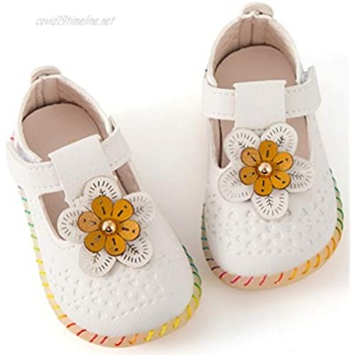 UniBaby7 Baby Girls Shoes Infant Baby Soft Cute Walking Shoes Toddler Moccasinss Rubber Sole Princess Mary Jane Shoes Prewalker Wedding Dress Crib Shoes