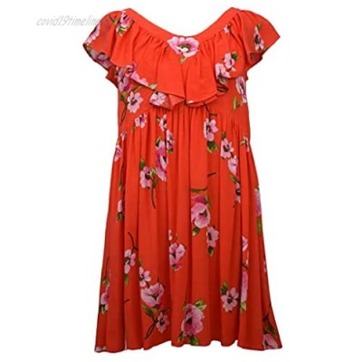 Bonnie Jean Girl's Red Dress for Little and Big Girls Sizes 4-6x and 7-16