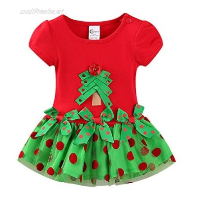 LittleSpring Baby Toddler Girl Christmas Dress with Bowknot Tutu Tulle Dress