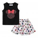 Mud Kingdom Girls Outfits Summer Holiday Floral Tank Top and Skirt Set Chiffon