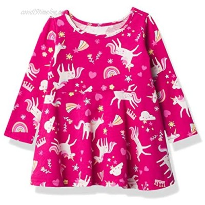 The Children's Place Girls' Baby and Toddler Valentine's Day Unicorn Skater Dress