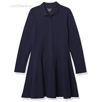 The Children's Place Girls' Long Sleeve Polo Dress