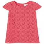 The Children's Place Girls' Short Sleeve Lace Dress