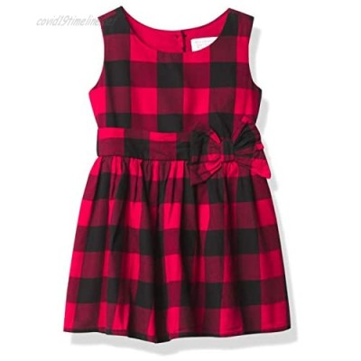 The Children's Place Girls' Toddler Matching Family Buffalo Plaid Fit and Flare Dress
