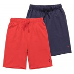 KOWDRAGON Kids Boy's and Girl's 1 or 2-Pack 100% Cotton Knitted Jersey Shorts (3-12 Years)