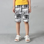 Rolanko Boys Shorts Casual Drawstring Terry Kids Sweat Shorts Summer Clothes for Casual Playwear Beach