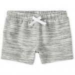 The Children's Place Boys' Baby and Toddler Marled French Terry Shorts