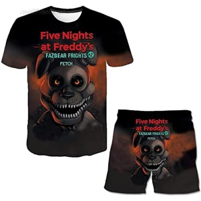 3D Printing Five Nights at Freddy's Suit Street Fashion Tees for Boys and Girls T-Shirts