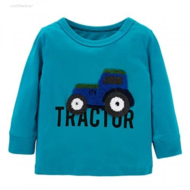 Ainuno Boys Girls Long Sleeve Shirts 2-7 Years Old 100% Cotton Clothes 2t 3t 4t 5t 6-7