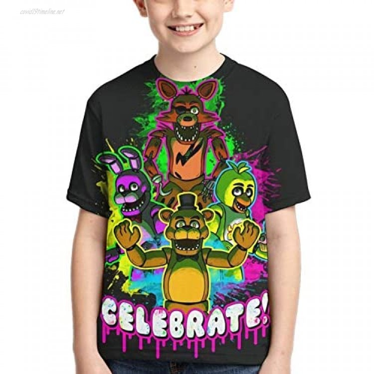 Boy's and Girl's Five Nights at Freddy's Game 3D Print Fashion Short Sleeve T Shirt