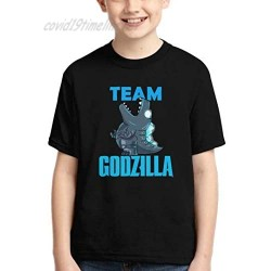 Boys Girls God-Zilla Cotton T Shirt King of Monsters 3D Printed Short Sleeves Fashion Youth Tee Shirts