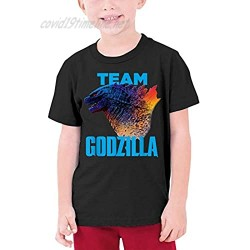 DEMO QUEEN Team Godzilla T-Shirts Round Neck Cotton Shirt Fashion Pattern 3D Printde Short Sleeve T Shirts for Youth Boys and Girls Small