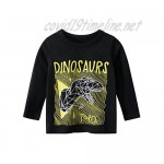 LeeXiang Toddler Boys' Long-Sleeve T-Shirts 2-Pack Cartoon Graphic Cotton Tee