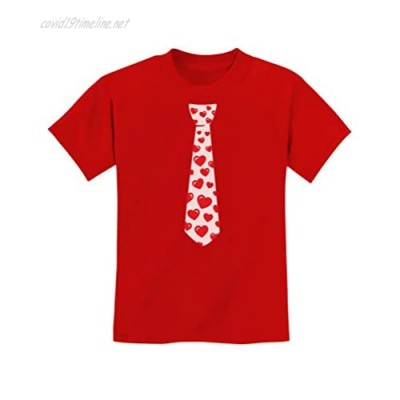 Red Hearts Tie for Valentine's Day Love Youth Kids T-Shirt