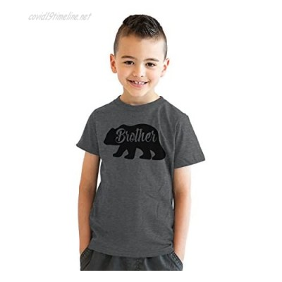 Youth Brother Bear T Shirt Cute Funny Family Sibling Tee for Kids