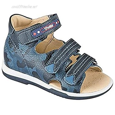 Orthopedic Kids Shoes for Boys and Girls - Twiki - Genuine Leather Sandals with Arch Support Non-Slip Amortizing Sole and Thomas Heel
