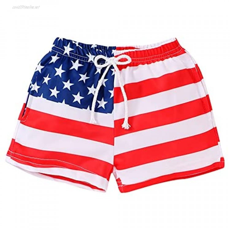 YOUNGER STAR Toddler Boys Swim Trunks Shorts Animals Print Quick-Dry Bathing Suit Swimsuit 1-6T