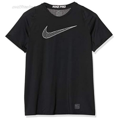 Nike Pro Boy's Compression T Shirt Small Polyester Black