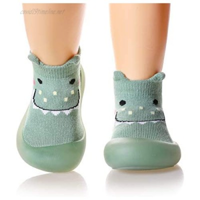 Baby Boy Girls Rubber Sole Non-Skid Indoor Floor Slipper Kid Toddlers Child Animal Breathable Cotton Outdoor Shoes Socks