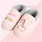 Cute Kids Animal Slippers Plush Funny Anti Slip House Shoes for Boy and Girl