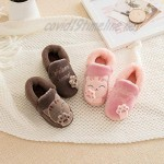 Maybolury Girls Boys Cute House Slippers Kids Fur Lined Indoor Home Slippers Warm Winter Indoor Slippers Shoes