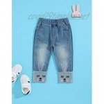 Hipea Toddler Girl Clothes Toddler Girls' Skinny Stretch Elastic Waist Jeans
