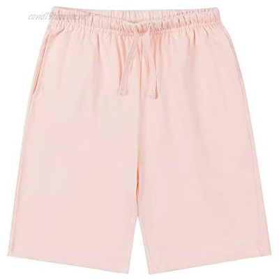 ATLANHAWK Kids Cotton Pull on Jogger Shorts for Boys and Girls 3-12 Years