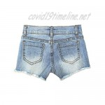 Castle Rose Boutique Ripped Jean Shorts for Girls | Baby Girl Jean Shorts | Distressed Summer Shorts