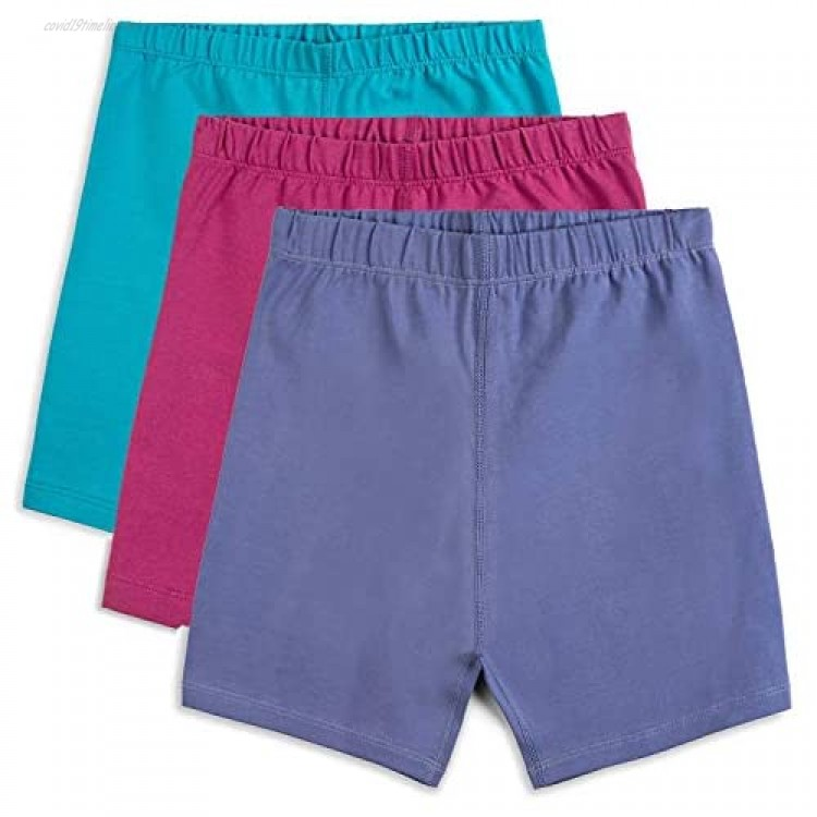 Mightly Girls' Cartwheel Shorts   Organic Cotton Fair Trade Certified 3-Pack Bicycle Undershorts for Kids and Toddlers