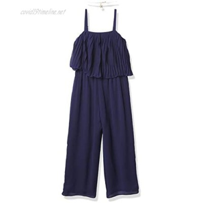 Amy Byer Girls' Pleated Popover Jumpsuit