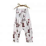 Toddler Baby Girl Floral Romper Jumpsuit Kids Sleeveless Flower Print Wide Leg Pants Bodysuit Outfits Overall Clothes
