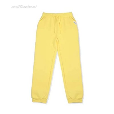 AMERICLOUD Kids Jogger Sweatpants Soft Brushed Fleece Pants Drawstring Athletic Pants for Boys and Girls 3-12 Years