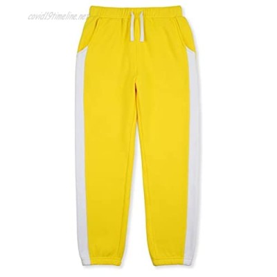 DOTDOG Youth Soft Mirco Velvet Pull-on Jogger Sweatpants Casual Fleece Pants with Pockets for Boys or Girls 3-12 Years