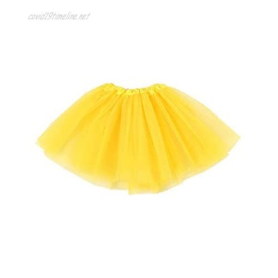 Fuxinzhu 3 Layered Tulle Tutu Skirt for Girls with Hairbow and Hairties Ballet Dressing Up Kid Tutu Skirt