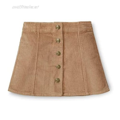 Hope & Henry Girls' A-Line Skirt with Snap Front